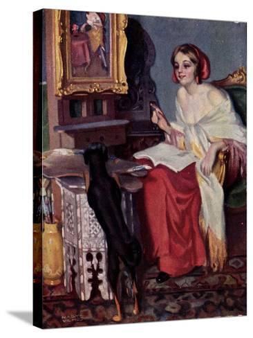 Künstler Pap, E., Kis Kotnyeles, Ein Nascher, Hund--Stretched Canvas Print