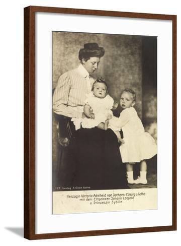 Herzogin Victoria Adelheid, Erbprinz Leopold, Sybille--Framed Art Print