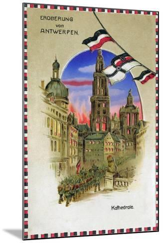 """Conquest of Antwerp - Cathedral"", 1914--Mounted Giclee Print"