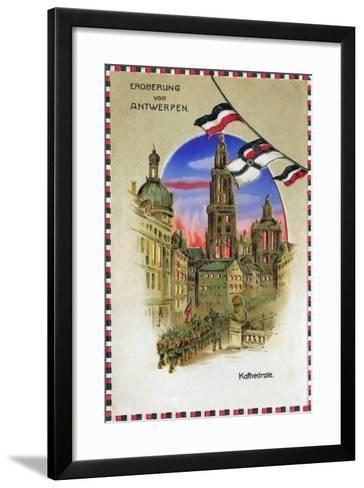 """Conquest of Antwerp - Cathedral"", 1914--Framed Art Print"