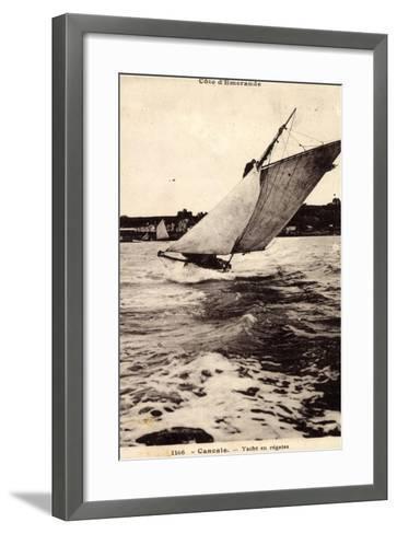 Cancale, Yacht En Régates, Segelboot, Windig, Wellen--Framed Art Print