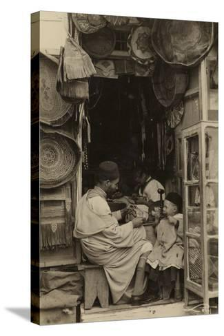 Tangiers - Taking Tips at a Bazaar in Morocco--Stretched Canvas Print