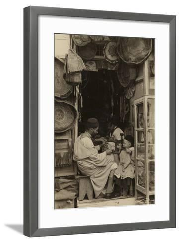Tangiers - Taking Tips at a Bazaar in Morocco--Framed Art Print