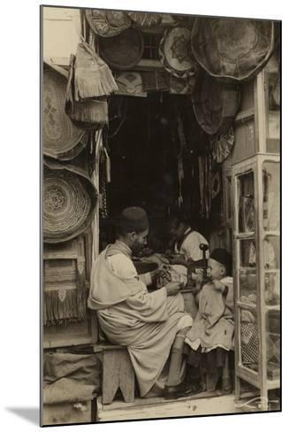 Tangiers - Taking Tips at a Bazaar in Morocco--Mounted Photographic Print