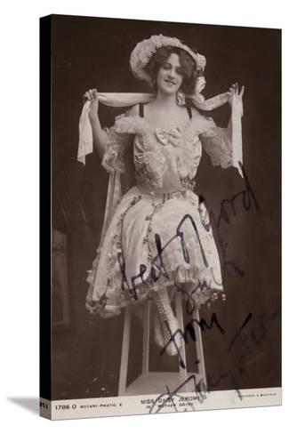 Daisy Jerome, English Stage Actress--Stretched Canvas Print