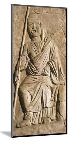 Relief Depicting Actor in Theatrical Costume, from Roman Theatre in Sabratah, Libya--Mounted Giclee Print