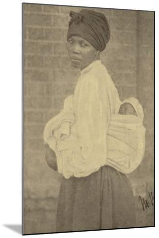 Postcard Depicting a Zulu Woman and Her Baby--Mounted Photographic Print