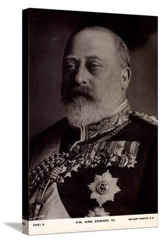 H.M. King Edward VII, Decorations, Medallions--Stretched Canvas Print