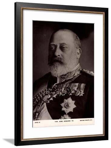 H.M. King Edward VII, Decorations, Medallions--Framed Art Print
