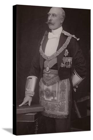 The Duke of Connaught as Grand Master of the Masonic United Grand Lodge of England--Stretched Canvas Print