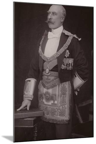 The Duke of Connaught as Grand Master of the Masonic United Grand Lodge of England--Mounted Photographic Print