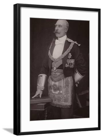 The Duke of Connaught as Grand Master of the Masonic United Grand Lodge of England--Framed Art Print