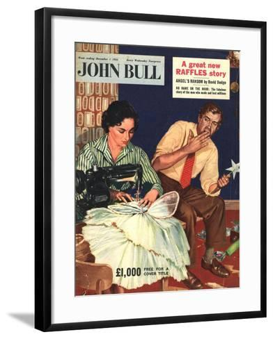 Front Cover of 'John Bull', December 1956--Framed Art Print