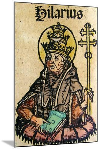Portrait of Pope Hilarius, Published in the Nuremberg Chronicle, 1493--Mounted Giclee Print