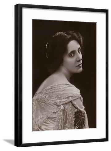 Mrs Patrick Campbell, English Stage Actress--Framed Art Print