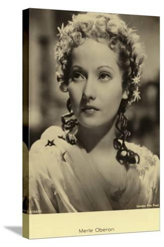 Merle Oberon--Stretched Canvas Print