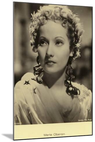 Merle Oberon--Mounted Photographic Print