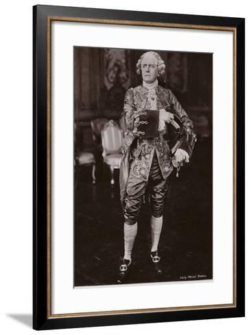 Sir Herbert Beerbohm Tree, English Stage Actor and Theatre Manager--Framed Art Print