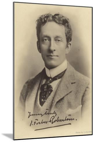 Sir Johnston Forbes-Robertson, English Stage Actor and Theatre Manager--Mounted Photographic Print
