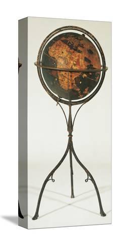 Earth Globe by Martin Behaim, 1492--Stretched Canvas Print