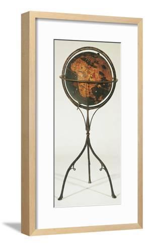 Earth Globe by Martin Behaim, 1492--Framed Art Print