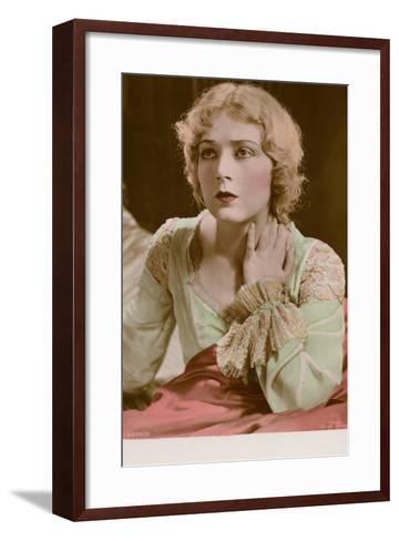 Vilma Banky, Hungarian Actress and Film Star--Framed Art Print