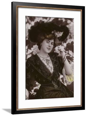 Gaynor Rowlands, English Actor, Singer and Dancer--Framed Art Print