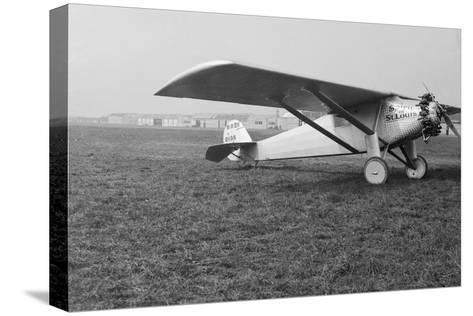 View of Charles Lindbergh's Airplane the Spirit of St. Louis--Stretched Canvas Print
