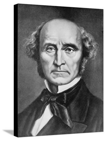 Portrait John Stuart Mill--Stretched Canvas Print