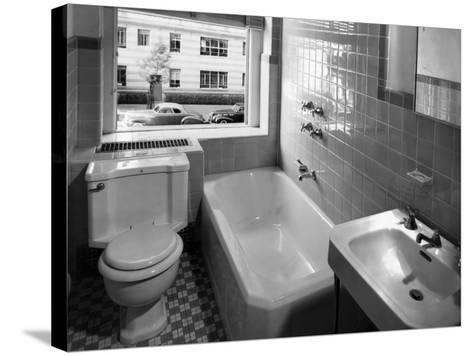 Window View from Earlier Modernized Bathroom-Philip Gendreau-Stretched Canvas Print
