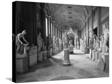 Statuary Gallery at the Vatican Museum--Stretched Canvas Print
