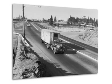 Truck Transporting Delivery to Safeway-Ray Krantz-Metal Print