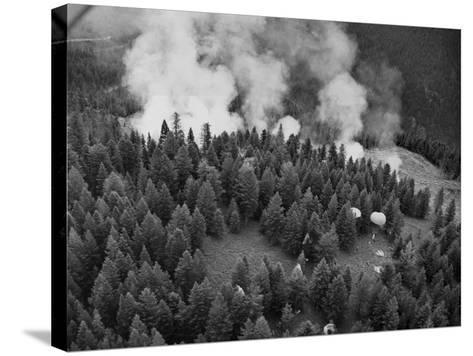 Firejumpers in Lolo National Forest-W.E. Steuerwald-Stretched Canvas Print