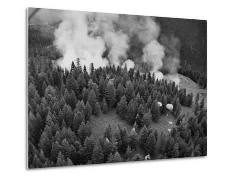 Firejumpers in Lolo National Forest-W.E. Steuerwald-Metal Print