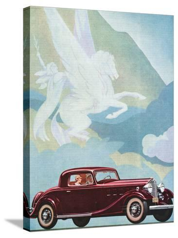 Early Advertising of Buick Automobile with Pegasus Overhead--Stretched Canvas Print