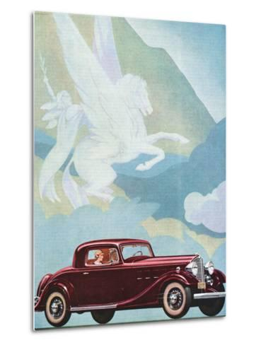 Early Advertising of Buick Automobile with Pegasus Overhead--Metal Print