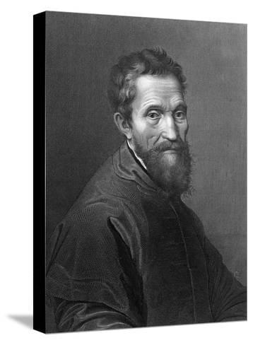 M. Angelo Buonarroti by A. Francois after a Self-Portrait by Michelangelo Buonarroti--Stretched Canvas Print
