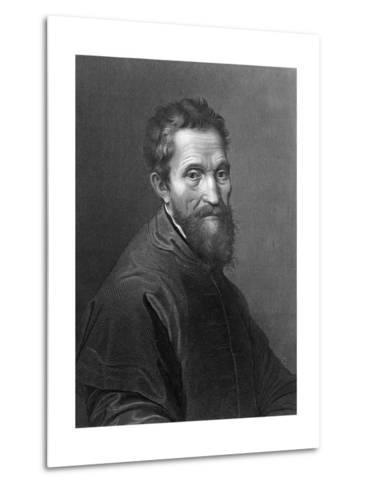 M. Angelo Buonarroti by A. Francois after a Self-Portrait by Michelangelo Buonarroti--Metal Print