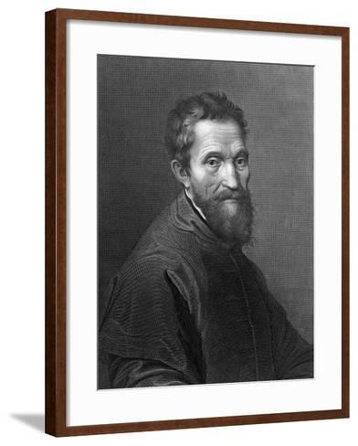 M. Angelo Buonarroti by A. Francois after a Self-Portrait by Michelangelo Buonarroti--Framed Art Print