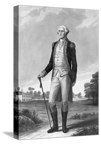 Painting of George Washington by George Hicks--Stretched Canvas Print