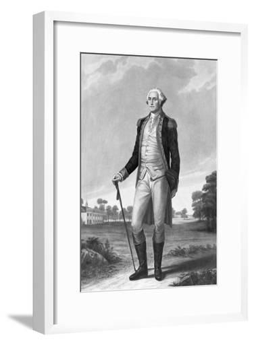 Painting of George Washington by George Hicks--Framed Art Print
