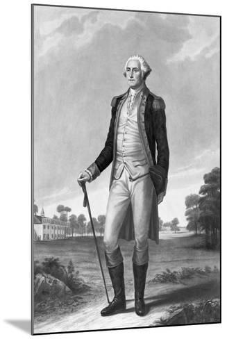 Painting of George Washington by George Hicks--Mounted Giclee Print