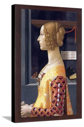 Portrait of Giovanna Tornabuoni by Domenico Ghirlandaio--Stretched Canvas Print