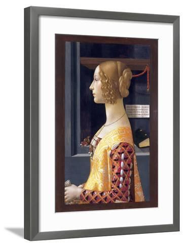 Portrait of Giovanna Tornabuoni by Domenico Ghirlandaio--Framed Art Print