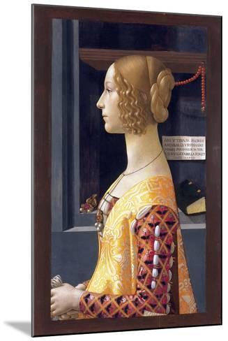 Portrait of Giovanna Tornabuoni by Domenico Ghirlandaio--Mounted Giclee Print
