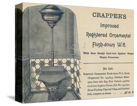 Advertisement for Crapper's Toilet--Stretched Canvas Print