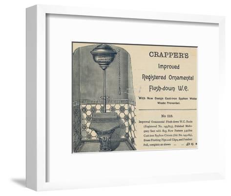 Advertisement for Crapper's Toilet--Framed Art Print
