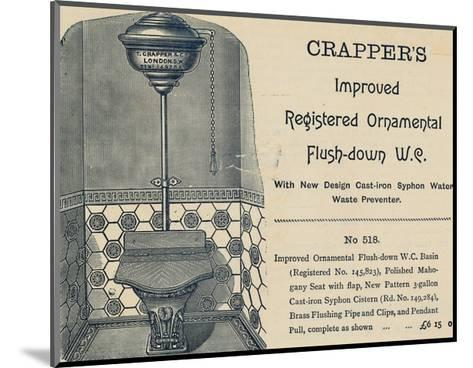 Advertisement for Crapper's Toilet--Mounted Giclee Print
