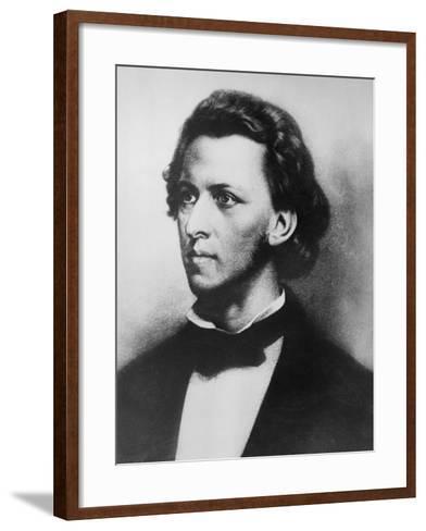 Portrait of Romantic Era Music Composer Chopin--Framed Art Print
