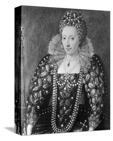 Decorative Painting of Queen Elizabeth I--Stretched Canvas Print
